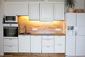 Köögimööbel uksed männi profiil viimistlus valge värv